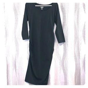 3/4 sleeve bodycon maternity dress